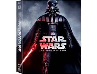 $81 off Star Wars: The Complete Saga (Episodes I-VI) Blu-ray