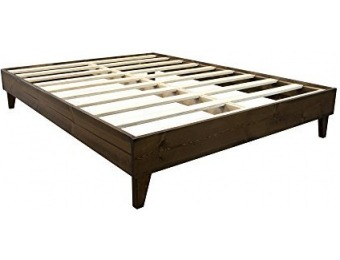 $153 off Solid Wood Platform Queen Bed Frame - Made in the USA