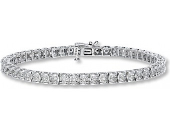 60% off 1/2 cttw Round-cut Sterling Silver Diamond Bracelet