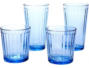 $20 off Circleware Blue Column 16pc. Glassware Set , Blue