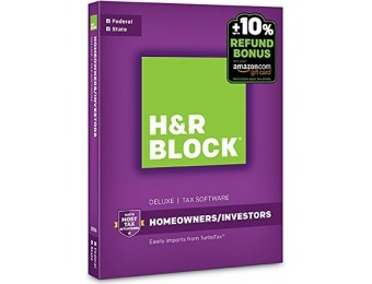 56% off H&R Block Tax Software Deluxe + State 2016 + Refund Bonus