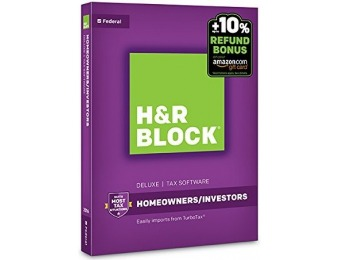60% off H&R Block Tax Software Deluxe 2016 + Refund Bonus