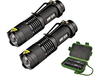 72% off Elite Special Forces 500 Lumen Tactical Flashlight (2 Pack)