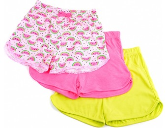 71% off Girls (4-6x) Freestyle 3pk. Watermelon Shorts