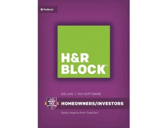 $20 off H&R Block Deluxe: Homeowners/Investors Federal