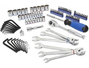 75% off Kobalt 100-Piece Standard (SAE) and Metric Mechanic's Tool Set with Hard Case 87743