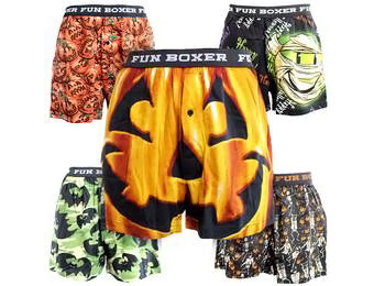 70% off Halloween Themed Boxer Shorts
