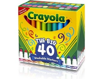 78% off Crayola 58-7858 Ultra-Clean Washable Broad Line Markers, 40-Count