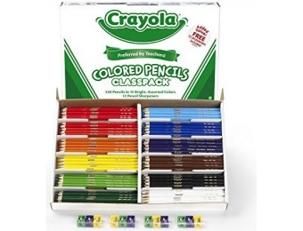 84% off Crayola 240 Ct Colored Pencil Classpack, 12 Assorted Colors
