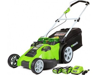 "$180 off GreenWorks G-MAX 40V Twin Force 20"" Cordless Mower"