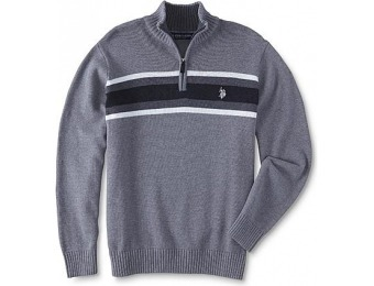 92% off U.S. Polo Assn. Men's Quarter-Zip Sweater