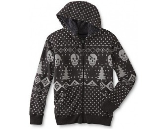 92% off Amplify Young Men's Hoodie Jacket - Fair Isle Skull