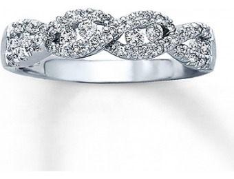 63% off 1/3 cttw Round-Cut 10K White Gold Diamond Band