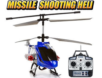 $70 off Missile Shooting Gyro Metal Arrow Hawk 3.5CH RC Helicopter