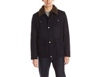 93% off Kenneth Cole New York Men's Wool Car Coat with Sherpa Collar