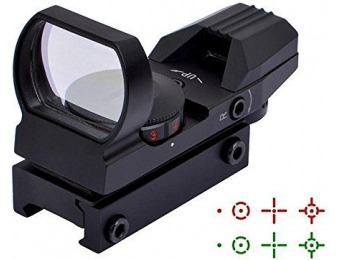 68% off Ohuhu Red and Green Reflex Sight with 4 Reticles