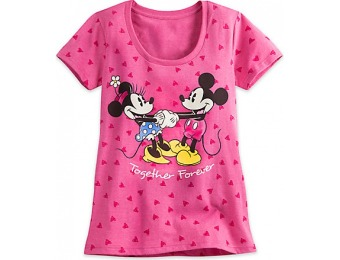 74% off Minnie and Mickey Mouse Tee for Women