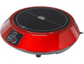60% off Elite Portable Induction Cooktop Red EIND-88R