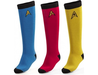 35% off Star Trek OS 3-pack Ladies' Knee High Socks