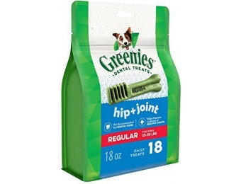 81% off GREENIES Hip and Joint Care Dental Regular Dog Treats