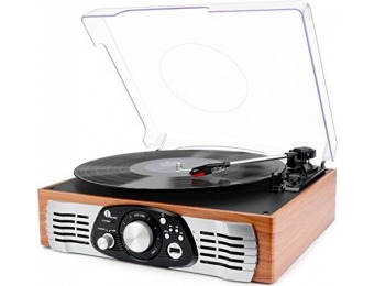 $50 off Belt-Drive 3-Speed Stereo Turntable with Built in Speakers