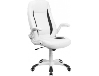 50% off White Leather Executive Swivel Office Chair