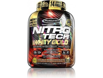 49% off MuscleTech NitroTech Whey Gold, 100% Pure Whey Protein