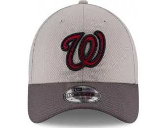 50% off Washington Nationals Adult Grayed 39THIRTY Flex Fit Hat