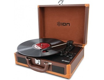 78% off ION Audio Vinyl Motion Deluxe Portable Turntable