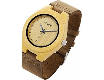 73% off Eco Wood Watch - Lightweight Wrist Wooden Watch