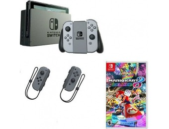 $50 off Nintendo Switch w/ Gray Joy-Con, Mario Kart 8 & Controllers