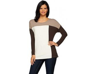 77% off Women with Control Controlways Color-Block Knit Tunic