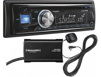 $100 off Alpine CD Bluetooth In-Dash Deck with Satellite Radio Tuner
