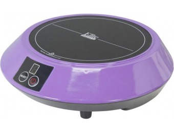 74% off Elite Portable Induction Cooktop Purple EIND-88P
