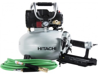 38% off Hitachi 6-Gallon Portable 150-PSI Electric Pancake Air Compressor KNT50AB