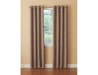 88% off Addison Jacquard Grommet Valance Top Treatments