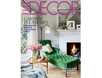 93% off Elle Décor Magazine - 1 Year Subscription