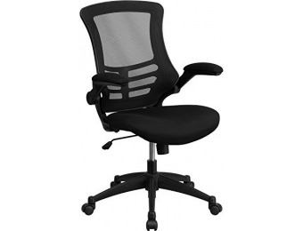 73% off Mid-Back Black Mesh Swivel Task Chair with Mesh Padded Seat