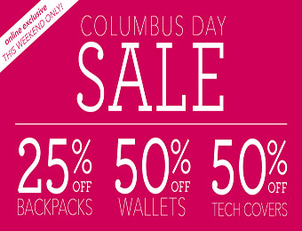 50% off Tech Covers, 50% off Wallets & 25% off Backpacks