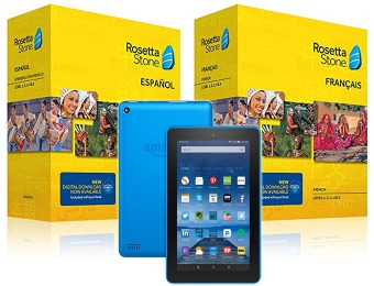 Free Fire tablet with Rosetta Stone Level 1-5 Purchase