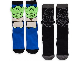 40% off Star Wars MXYZ Yoda & Darth Vader Sock Set for Women - 2-Pack