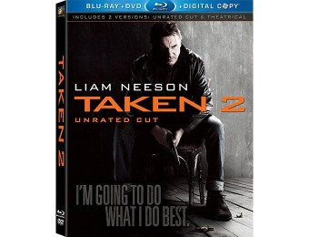 68% off Taken 2 (Unrated Cut) Blu-ray + DVD + Digital Copy
