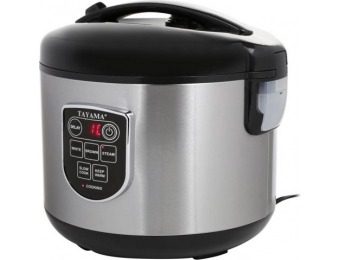83% off Tayama TRC-100 Digital Rice Cooker and Food Steamer