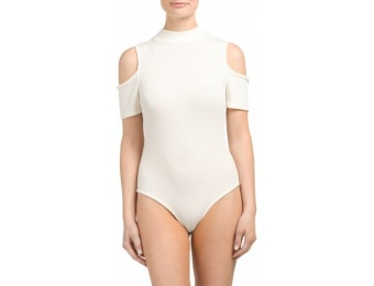 71% off Made In USA Mock Neck Cold Shoulder Bodysuit