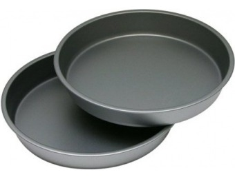 "51% off OvenStuff 9"" Nonstick Round Cake Pan 2 Pc Set"