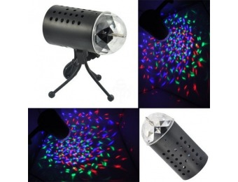 77% off TSSS LED RGB Crystal Ball Sound Active Stage Light