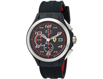 $186 off Ferrari Men's Lap Time Analog Display Watch