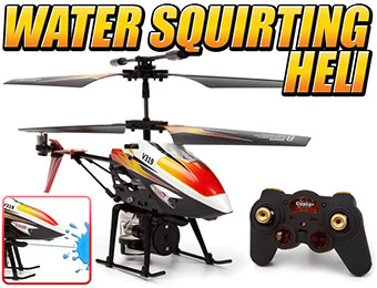 62% off Water Squirting Gyro Metal Air Soaker 3.5CH RC Helicopter