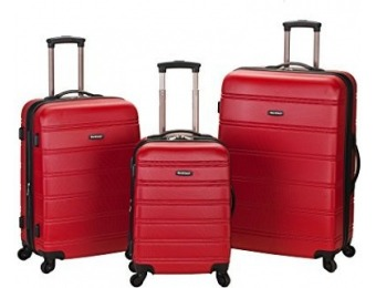 $364 off Rockland Luggage Melbourne 3 Pc Abs Luggage Set