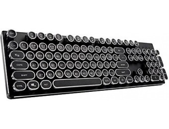 $310 off KrBn Retro Circle Keycap Mechanical Keyboard LED Backlit